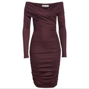 Diane Von Furstenberg DVF Wool Midi Dress S 6 NWT